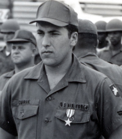 A2C Alvin W. Curie, 377th Air Police Squdron, received the nation's third highest medal, the Silver Star, for his actions taken on Dec 4-5, 1966.
