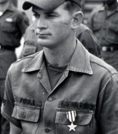 A2C Tommy C. Poole, received the nation's third highest medal, the Silver Star and the Purple Heart medal for his actions taken on Dec 4-5, 1966.