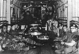 USAF 56th SPS aboard C-130 for Mayaguez Rescue Attempt, prior to crash which killed all aboard.
