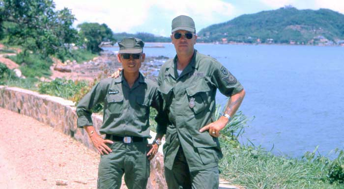 ARVN Sgt Duc and MSgt Summerfield outing to Windy Hill and beach area: 19