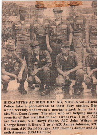 Article from the base newspaper at Hickam AFB, Hawaii.