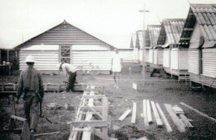 LIPs Constructing our barracks.