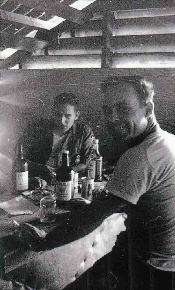 Walter Bond and Airman Walters, off duty.