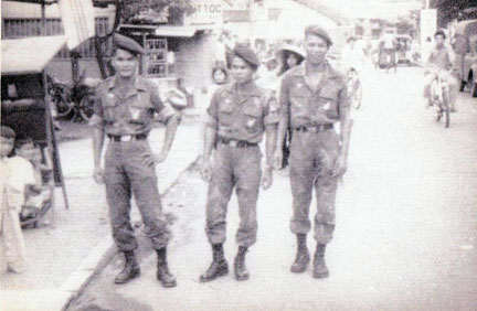 ARVN soldiers checking out downtown Bien Hoa.