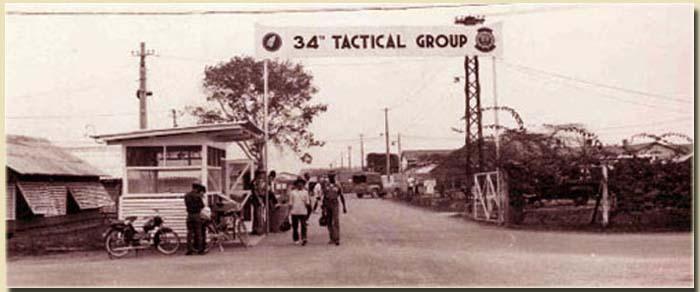 9. Bien Hoa AB 34th Tactical Group Gate. Photo by: Robert Etzler. 1964-1965.