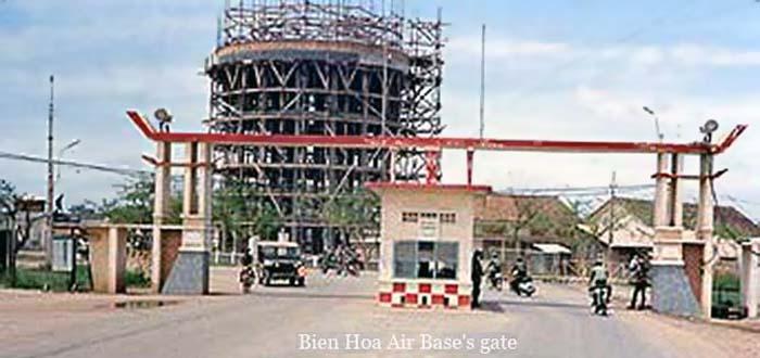 14. Bien Hoa Air Base gate. ARVN. 1971-1972. Photographer: unknown.