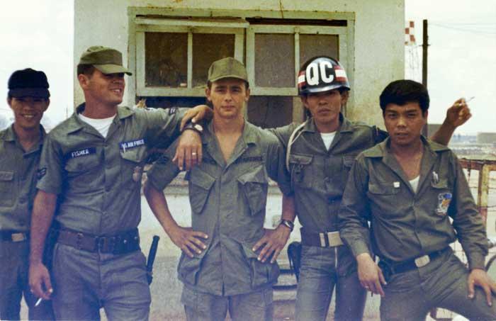5. Bien Hoa AB Main Gate. Photo by: Ernest (Coco) Govea. 1968-1969.