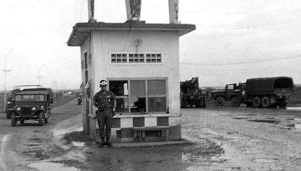 4. Bien Hoa AB Main Gate. Closer Up, Photo by: Ernest (Coco) Govea. 1968-1969.