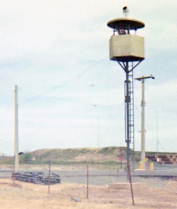 2b. Bien Hoa AB, Ammo Dump Tower. Close Up. Photo by: Ernest Govea, BH, 3rd SPS, 1968-1969.