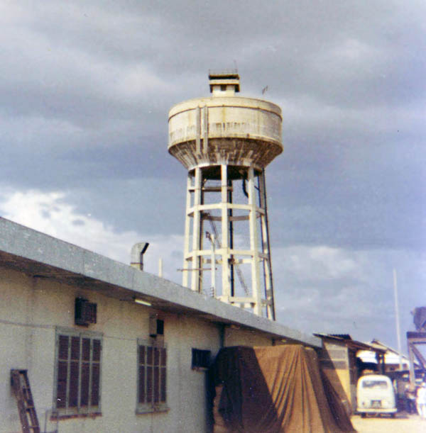 5. Bien Hoa AB, Water Tower. Photo by: Ernest Govea. 1968-1969.