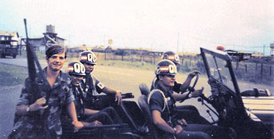 Photo by A1C Wilson, 1972: Paul Huff with QC Patrol at check point south of Bien Hoas Main Gate.