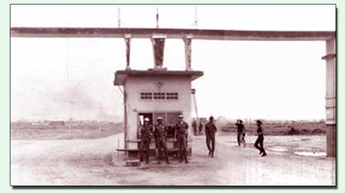 1.a Above: Bien Hoa AB Main Gate. 1b. Below: Close Up. Photo by: Lew Lebowitz, LM 241, BH, 3rd SPS. 1966-1968.