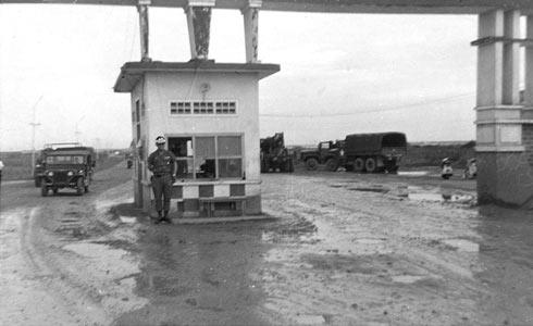 Bien Hoa's Main Gate - View into base.