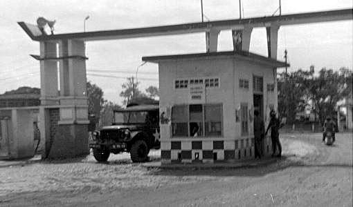 Bien Hoa AB Main Gate, view leaving base.