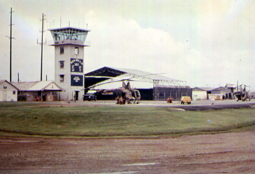 10. Bien Hoa AB, Control Tower. Photo by: Terry Smart, BH, 3rd APS/SPS. 1965-1966.