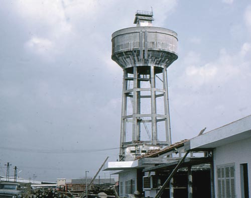 11. Bien Hoa AB, Water Tower - Rocket Look Out post. Photo by: Terry Smart, BH, 3rd APS/SPS. 1965-1966.