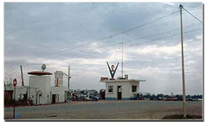 Bien Hoa AB Gate Post. Photo by: Howard Yates (Augumentee), 1967-1968.