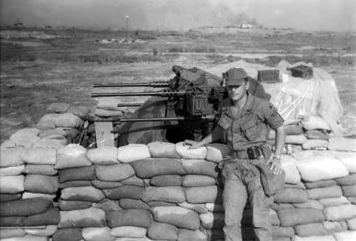 15. Bien Hoa AB. Perimeter Bunker, Quad-50s. 1968. Photo by: William Gallant, LM 246, BH, 3rd SPS, 1968-1969.