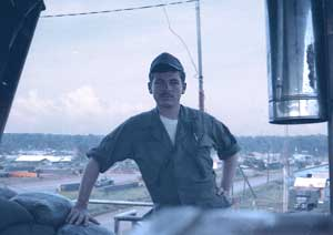 1. Ban Me Thuot, Coryell Air Field. Ken De Russy and view from Tower. Photo by: Ken De Russy. 1969-1970.