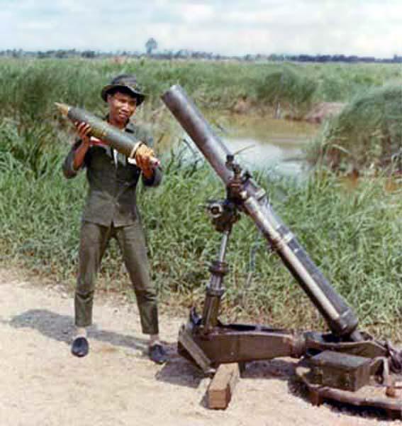 Ban Me Thuot, Mortars, Close Up. 1967. Photo by: McClean.
