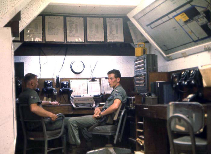 Bien Thuy Air Base, USAF 632nd Security Police Squadron, Combat Control Center. Everything's calm... until it's not. MSgt Summerfield: 18