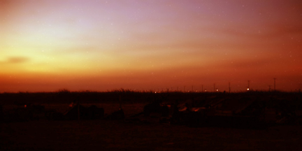 Bien Thuy Air Base, perimeter bunkers at sunset. MSgt Summerfield: 02