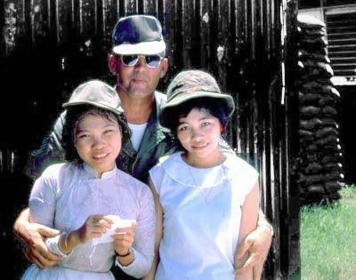 Bien Thuy Air Base, 1st Sgt Ebling and house-girls. MSgt Summerfield: 10