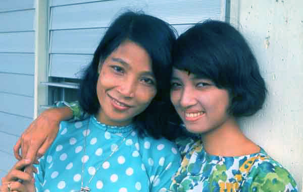Bien Thuy Air Base. Two-young-ladies. MSgt Summerfield: 11