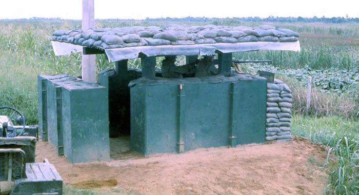 Bien Thuy Air Base, SPS Airman mans perimeter-bunker with 50cal. MSgt Summerfield: 06