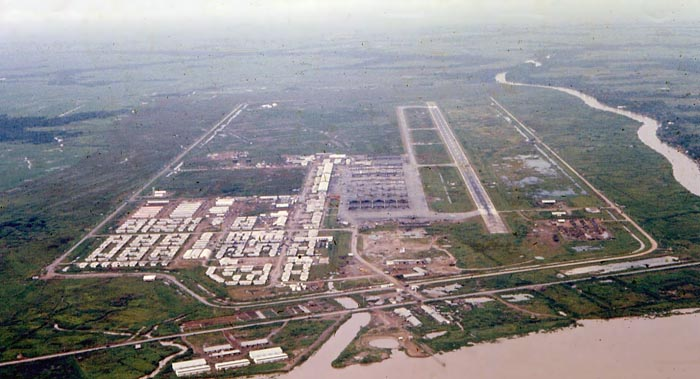 Bien Thuy Air Base, Mekong Delta-8 tower, South view. MSgt Summerfield, 1968: 04