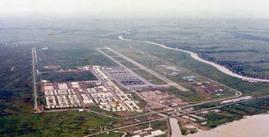 Bien Thuy Air Base, Mekong Delta-10 tower, South view. MSgt Summerfield, 1968: 05