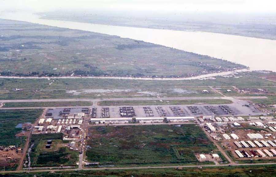 Bien Thuy Air Base, flight line view. Mekong Delta-6 tower, West view. MSgt Summerfield: 06