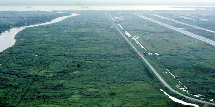 Bien Thuy Air Base, Mekong Delta-1 tower, North view, perimeter towers and bunkers. MSgt Summerfield: 09