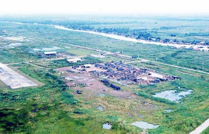 Bien Thuy Air Base, Mekong Delta, perimeter tower and bunkers. MSgt Summerfield: 12