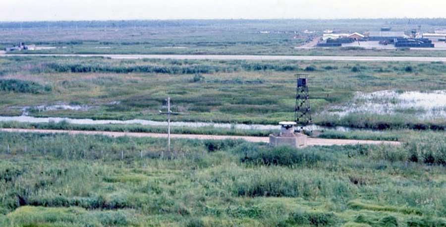 Bien Thuy Air Base perimeter, Mekong Delta-9 tower and heavy bunker. MSgt Summerfield: 20
