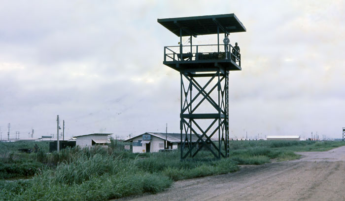 Bien Thuy Air Base, perimeter road SPS Tower. MSgt Summerfield, 1968: 25