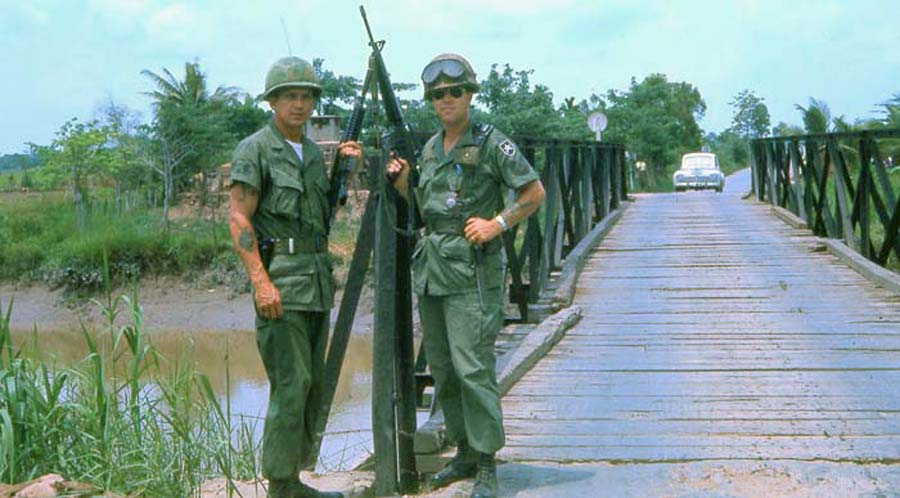 Bien Thuy Air Base. Area river bridge. MSgt Summerfield: 01