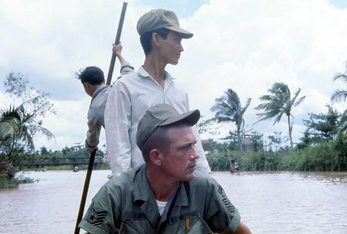 Bien Thuy Air Base. boating to river village. MSgt Speedy Morgan. MSgt Summerfield: 04