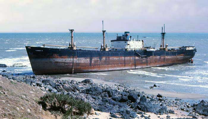 Bien Thuy, beautiful day at the beach. Grounded Freighter. MSgt Summerfield 1969: 15