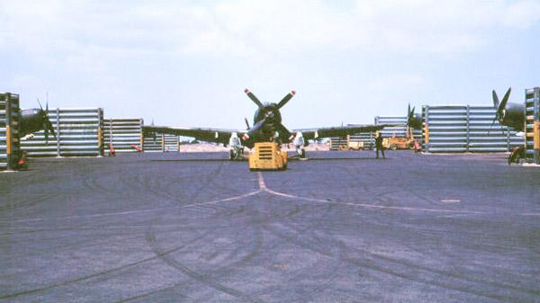 015: Binh Thuy AB, A-1E flight line. Photo by: Dr. Mel Hecker, 1968