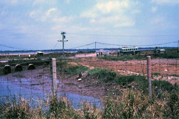 018: Binh Thuy AB, Gate checking bus. Photo by: Dr. Mel Hecker, 1968