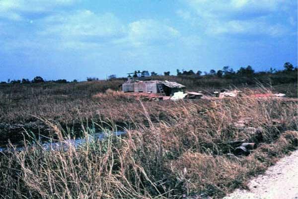 030: Binh Thuy AB, perimeter bunker. Photo by: Dr. Mel Hecker, 1968