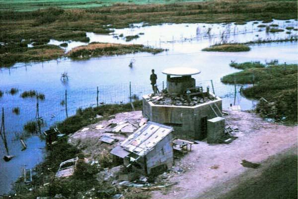 031: Binh Thuy AB, perimeter bunker overlooking marsh. Photo by: Dr. Mel Hecker, 1968