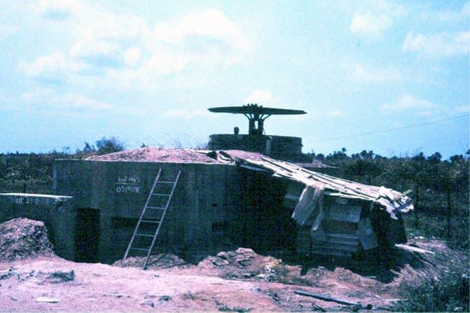 033: Binh Thuy AB, perimeter bunker. Photo by: Dr. Mel Hecker, 1968
