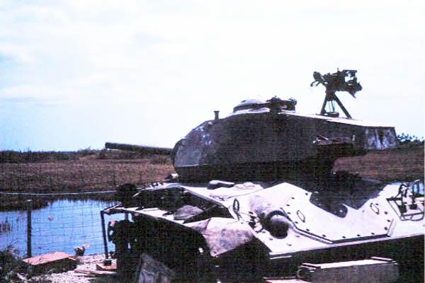 034: Binh Thuy AB, perimeter tank. Photo by: Dr. Mel Hecker, 1968
