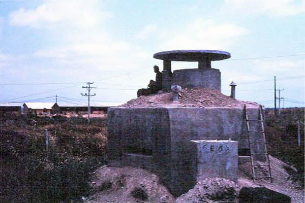035: Binh Thuy AB, perimeter bunker. Photo by: Dr. Mel Hecker, 1968