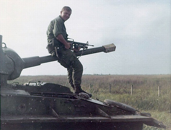 10. BT AB:Guy on old tank – can't recall his name. Photo by Jaime Lleras. 1970.