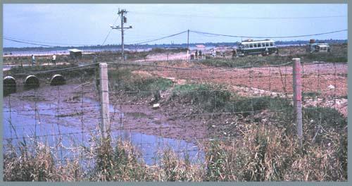 Binh Thuy AB, Civilian Gate. Above/Below Photos by: Mel Hecker, 1968.