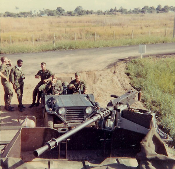 1) Binh Thuy AB perimeter. QRT, truck with .50 cal.