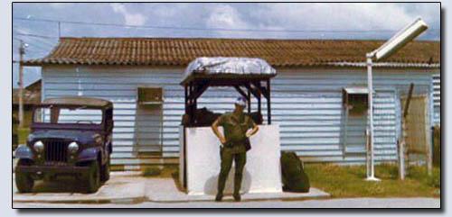 Binh Thuy Gate, Airman Hanzo. Photo by: Mark Pfaff, 1971-1972.